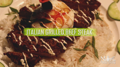 Photo of Italian Grilled Beef Steak recipe with Poached egg