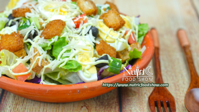 Photo of Keto Caesar Salad with Caesar Dressing Recipe for healthy eating