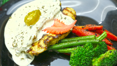 Photo of Juicy Chicken Steak Recipe with Jalapeno Sauce and Sauteed Vegetables