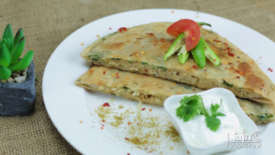 Photo of Noodly Chicken Paratha recipe with mint and coriander stuffed dough